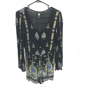 Anna Sui for O'Neill bohemian long sleeve romper